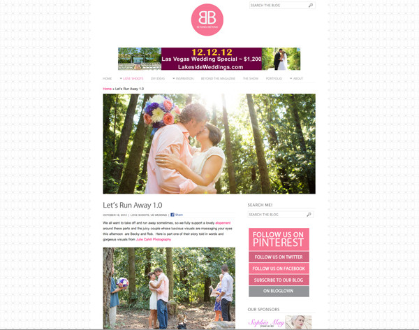 PUBLISHED | Beyond and Beyond UK Wedding Blog